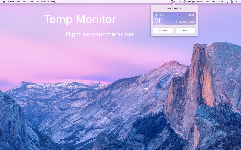 Temp Monitor 1.1.7 Mac 破解版 – 优秀的硬件温度监测工具-爱情守望者
